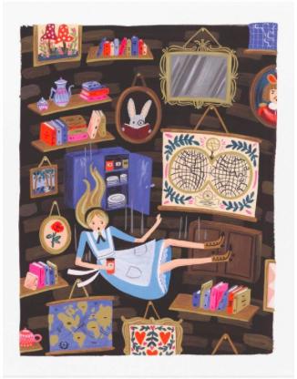 Alice Falling Print