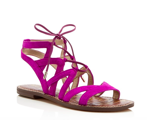 7 Gemmma Lace Up Flat Sandals