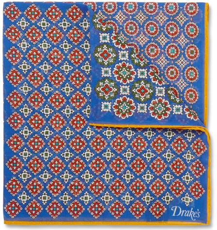 Drake's Medallion-Print Cotton And Silk Blend