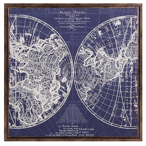 Monde Framed Map