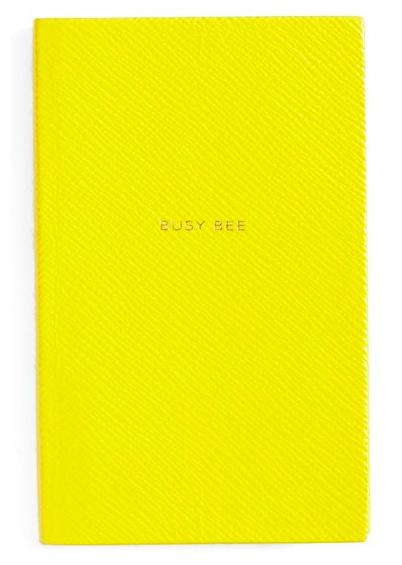 Smythson, 'Busy Bee Panama' Pocket Notebook 1