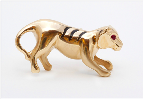 Gold Tiget Pin