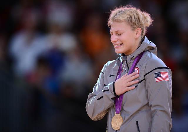 United States' gold medalist Kayla Harri