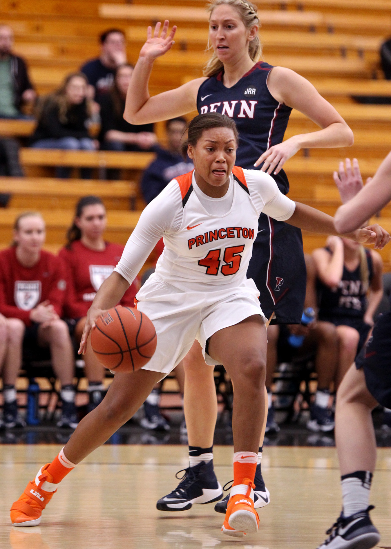 1e66a0de175 DRIVEN TO SUCCEED: Princeton University women's basketball player Leslie  Robinson drives to the hoop in a game last season. Senior star and  co-captain ...
