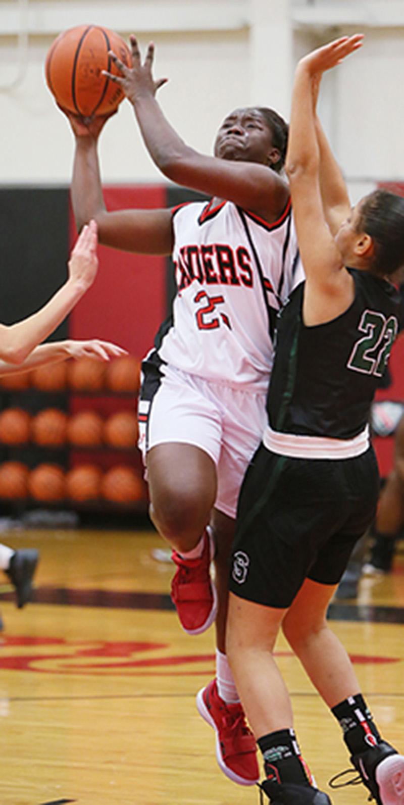 UP IN ARMS Hun School Girls Basketball Player Jada Jones Puts Up A Shot In Game Earlier This Season Last Saturday Senior Guard And Team Captain